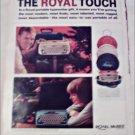 Royal Sahara Portable Typewriter ad