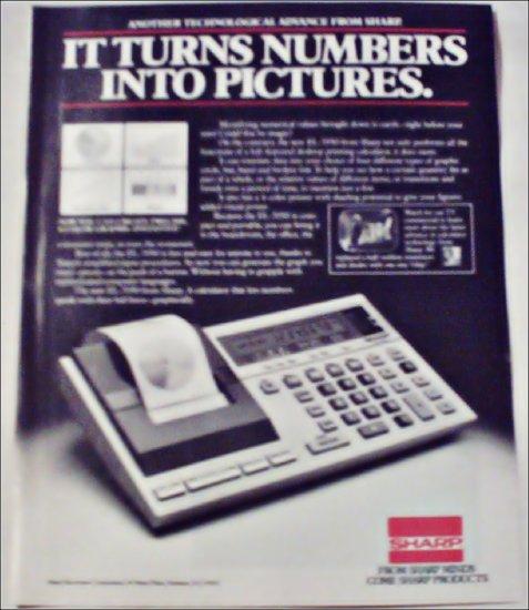 Sharp EL-7050 Calculator ad