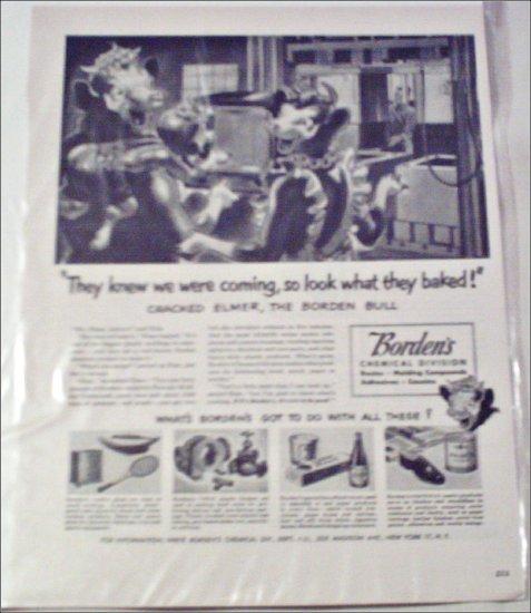 Borden Chemical ad featuring Elmer & Elsie