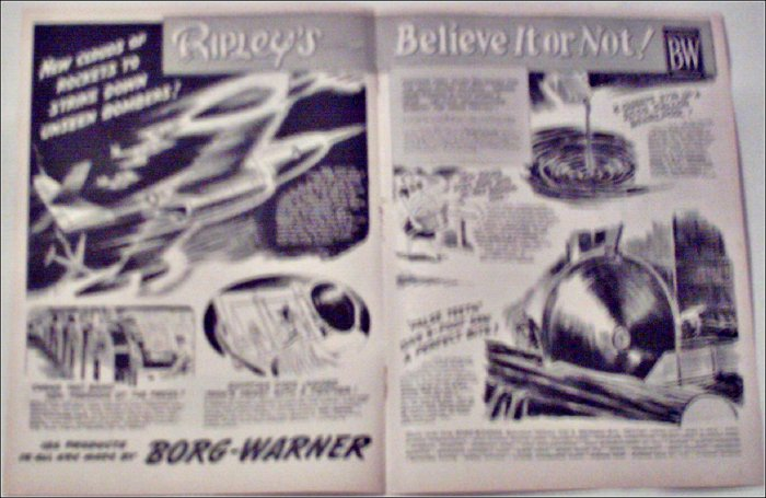 1953 Borg-Warner Ripleys Believe It or Not ad