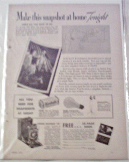 1935 Kodak Snapshot ad