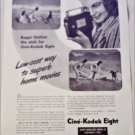 1941 Kodak Cine'-Kodak Eight Movie Camera Beach ad