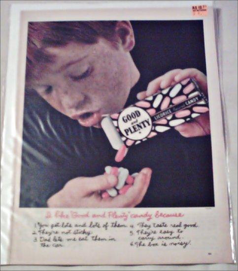 1963 Good and Plenty Licorice ad