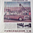 1960 American Motors Ambassador V-8 4 dr sedan car ad tan
