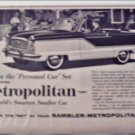 1960 American Motors Metropolitan car ad BBQ