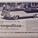 1960 American Motors Metropolitan car ad BBQ