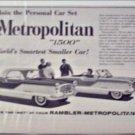 1960 American Motors Metropolitan car ad