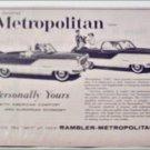 1960 American Motors Metropolitan car ad Golf