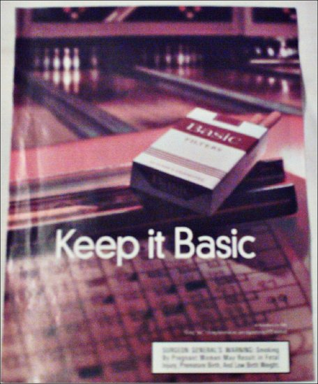 1998 Basic Cigarettes Bowling ad