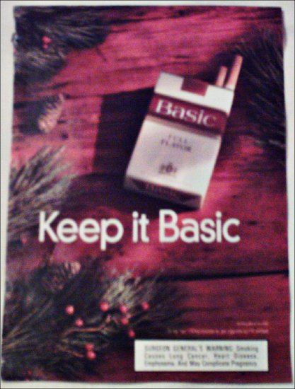 1998 Basic Cigarettes Christmas ad