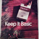 1998 Basic Cigarettes Christmas ad
