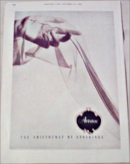 1950 Aristoc Nylon Stockings ad from Great Britain