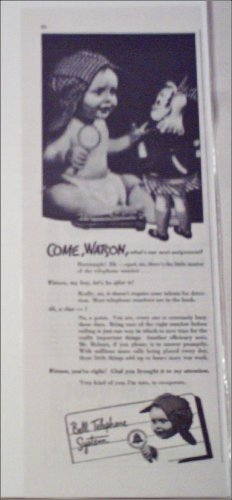 1942 Bell Telephone Watson ad