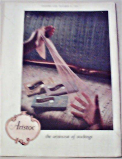 1952 Aristoc Nylon Stockings ad from Great Britain