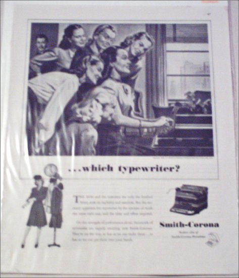 1946 Smith-Corona Typewriter ad