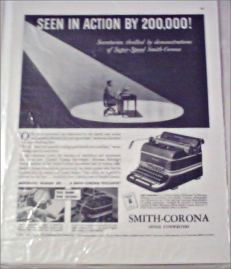 Smith-Corona Typewriter ad