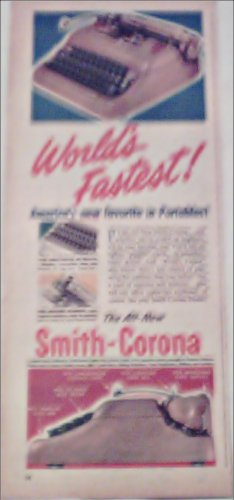 1950 Smith-Corona Portable Typewriter ad