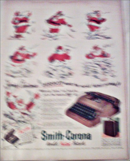 1952 Smith-Corona Portable Typewriter Christmas ad
