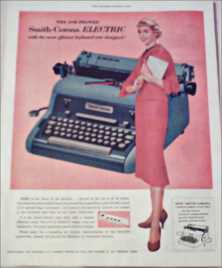 1955 Smith-Corona Electric Typewriter ad