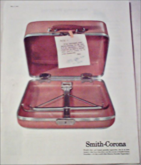 1958 Smith-Corona Typewriter ad