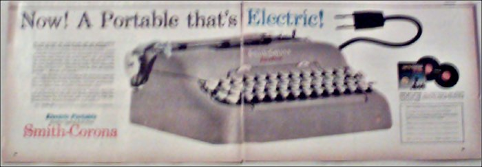 1959 Smith-Corona Electric Portable Typewriter ad