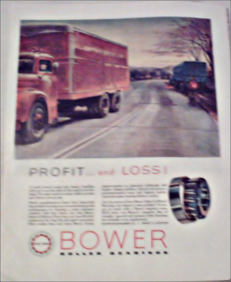 Bower Roller Bearings Company Profit and Loss ad