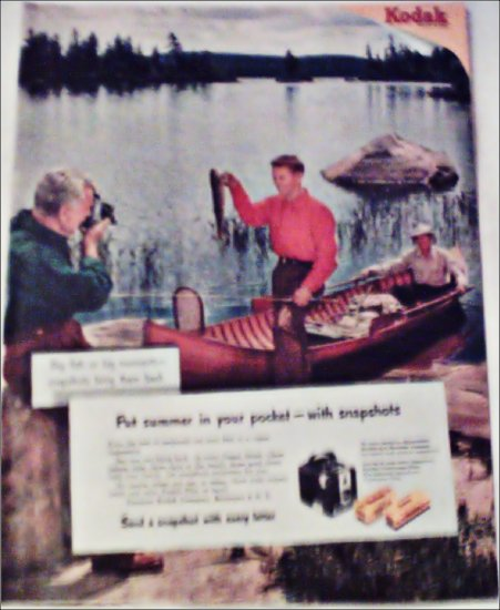 Kodak Camera Fishing ad