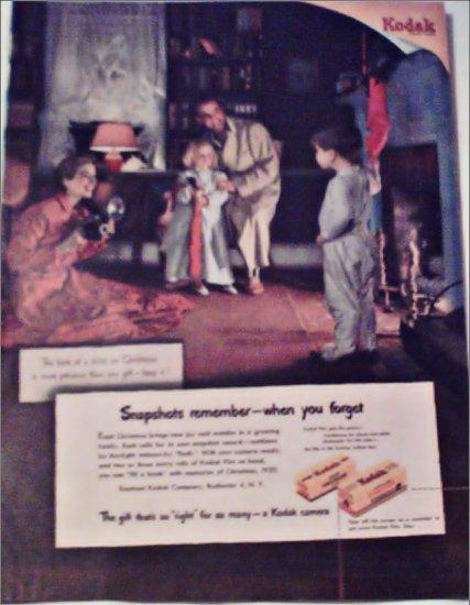 1950 Kodak Film Christmas ad