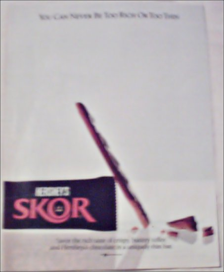 1998 Hershey's Skor Candy Bar ad