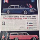 1961 American Motors Rambler Ambassador V-8 Custom 4 dr sedan car ad