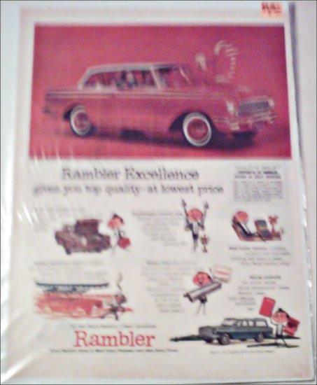 1961 American Motors Rambler American 2 dr sedan car ad