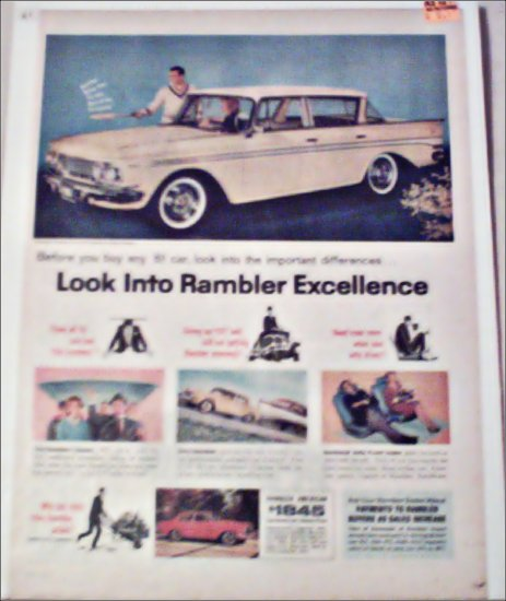 1961 American Motors Rambler Classic 4 dr sedan car ad