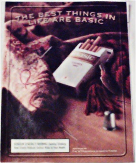 2000 Basic Cigarettes Sewing ad