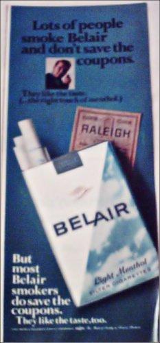 1966 Belair Cigarettes Coupon ad #1
