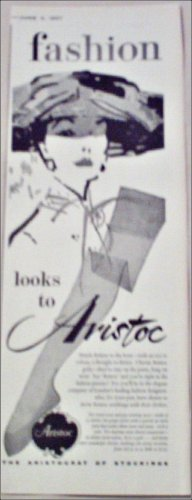 1957 Aristoc Nylon Stockings ad from Great Britain