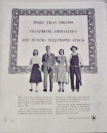 1948 Bell Telephone Stock ad