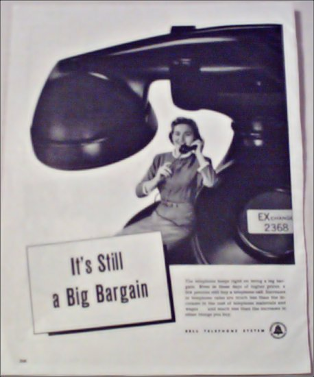 Bell Telephone Big Bargain ad