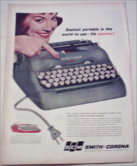 1960 Smith-Corona Electric Portable Typewriter ad