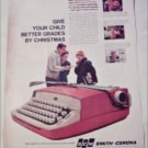 1960 Smith-Corona Galaxie Portable Typewriter ad
