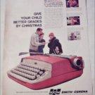 1960 Smith-Corona Galaxie Portable Typewriter ad