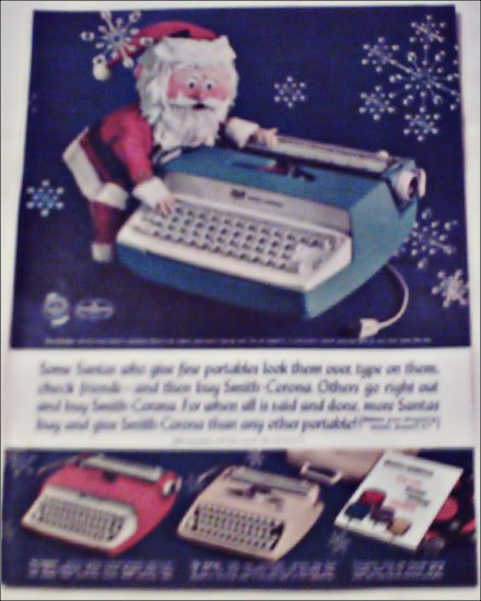 Smith-Corona Coronet, Galaxie, & Corsair  Typewriters Christmas ad