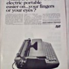 1966 Smith-Corona Electra 110 Electric Typewriter ad