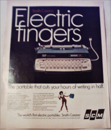 1967 Smith-Corona Electra 110 Electric Typewriter ad