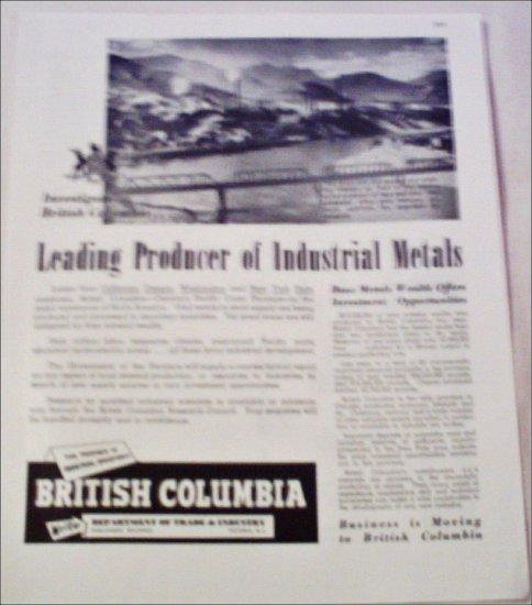 British Columbia Industrial Location ad