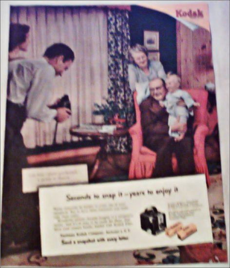 1953 Kodak Film Grandparents ad
