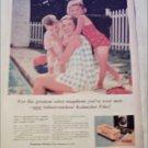 Kodak Kodacolor Film ad Mother & Children by Pool