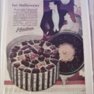 1930 Johnston's Chocolates Halloween ad