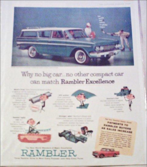 1961 American Motors Rambler CC 4 dr stationwagon car ad