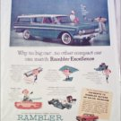 1961 American Motors Rambler CC 4 dr stationwagon car ad