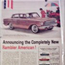 1961 American Motors Rambler American Custom 4 dr sedan car ad tan